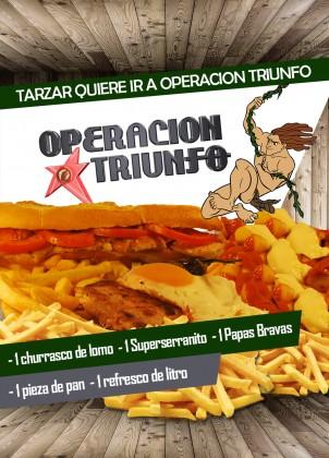 Tarzan tiene que ir a Operación Triunfo